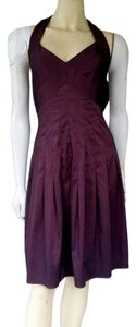 Adrianna Papell Halter Stretch Taffeta Dress