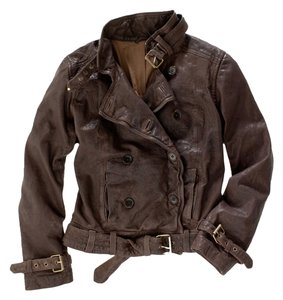 Madewell Leather Bomber Brown Leather Jacket