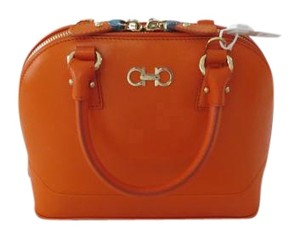 Salvatore Ferragamo Color Chic Design Satchel in Orange