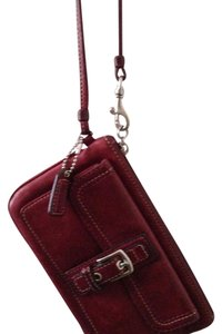 Coach Buckle Wristlet in Red