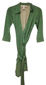 Diane von Furstenberg short dress Green White Silk Wrap on Tradesy