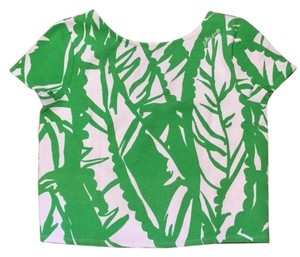 Lilly Pulitzer Top Boom Boom Green White