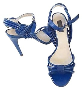 Emilio Pucci Emilio Royal Leather Blue Pumps