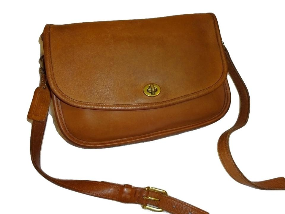 0ac580601020 Coach City Classic Vintage Turnlock Flap  9790 British Tan Leather  Messenger Bag - Tradesy
