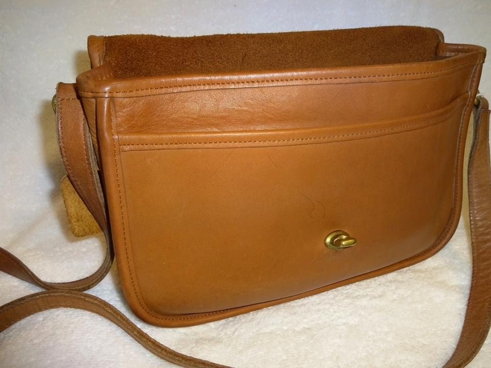 97b514fc3009 Coach City Classic Vintage Turnlock Flap  9790 British Tan Leather ...