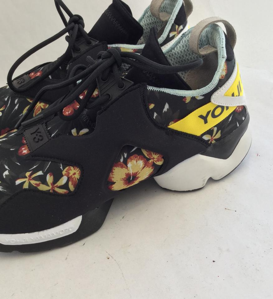 23a315e3e98f Y-3 Yohji Yamamoto Kohna Graphic Floral Black  Yellow Athletic Image 11.  123456789101112