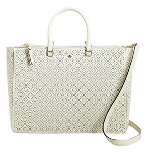 Tory Burch Robinson Satchel in New Ivory