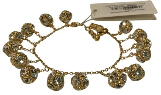 Kate Spade GOLD Kate Spade Classic Beautiful Lady Marmalade Mini Bracelet 12K Gold Plate with Faceted Glass Crystal Image 2
