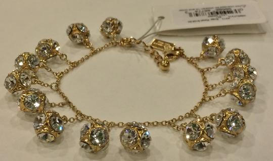Kate Spade GOLD Kate Spade Classic Beautiful Lady Marmalade Mini Bracelet 12K Gold Plate with Faceted Glass Crystal Image 3