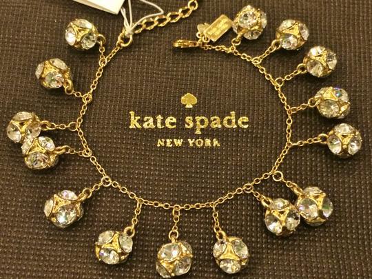 Kate Spade GOLD Kate Spade Classic Beautiful Lady Marmalade Mini Bracelet 12K Gold Plate with Faceted Glass Crystal Image 4