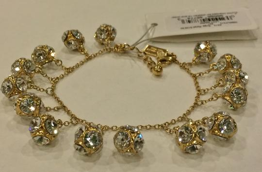 Kate Spade GOLD Kate Spade Classic Beautiful Lady Marmalade Mini Bracelet 12K Gold Plate with Faceted Glass Crystal Image 6