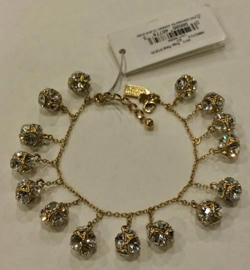 Kate Spade GOLD Kate Spade Classic Beautiful Lady Marmalade Mini Bracelet 12K Gold Plate with Faceted Glass Crystal Image 7
