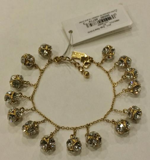 Kate Spade GOLD Kate Spade Classic Beautiful Lady Marmalade Mini Bracelet 12K Gold Plate with Faceted Glass Crystal Image 8