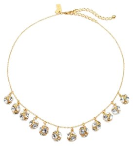 Kate Spade Gorgeous Kate Spade Lady Marmalade Mini Short Necklace 12K Gold Plate Faceted Crystal