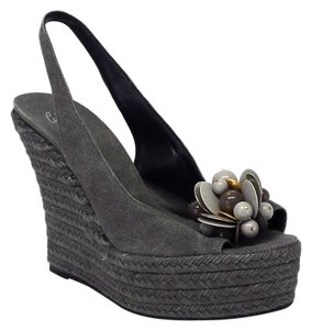 Castañer Gray Wedges