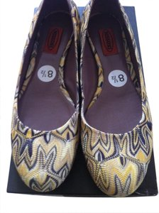 Missoni Ballet Summer Spring Yellow Flats