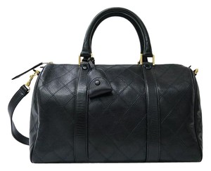 Chanel Boston Satchel in Black