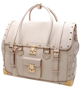 Louis Vuitton Suahli Satchel in White Suhali Leather