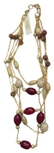 Amritah Singh Amritah Singh gold and red necklace