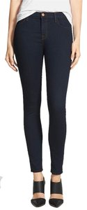 J Brand Ankle Length Mid Rise Fall Skinny Jeans-Dark Rinse