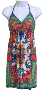 Moa Moa short dress Multi-Color Halter on Tradesy