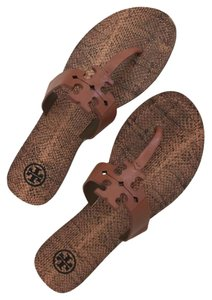 Tory Burch Flip Flop Flat Flat Thong Cognac Cream Sandals