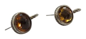 David Yurman David Yurman Citrine Cable Drop Sterling Silver Earrings