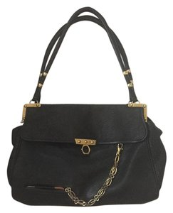 Zac Posen Soft Leather Rare Black Beach Bag
