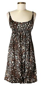 Susana Monaco short dress Brown Silk Print Empire Waist on Tradesy