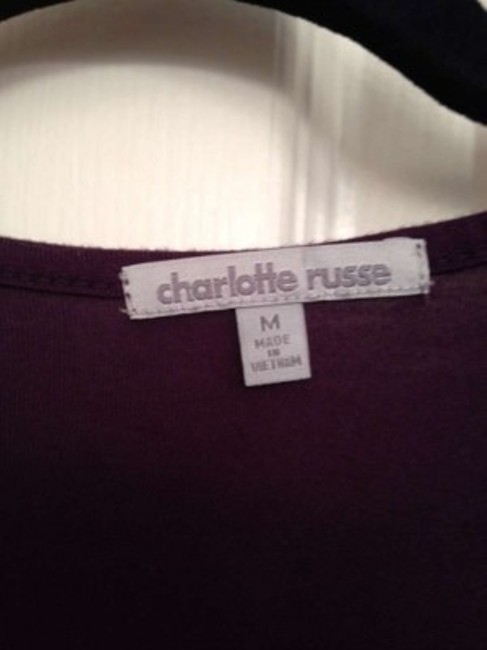 Charlotte Russe Professional Work Sequin Casual Top Purple