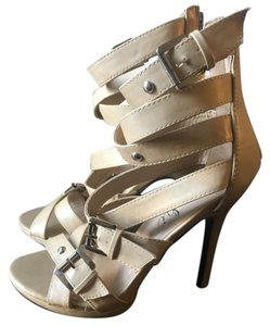 Machi Heels Cosmo2 Belt Beige Platforms