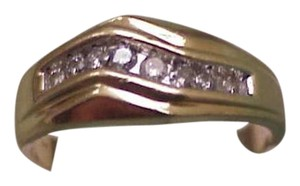 Other Estate 14K Gold Yellow 11 Diamonds Wedding Ring Band