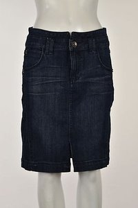 DKNY Jeans Womens Denim Skirt Blue