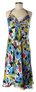 Donna Ricco short dress Silk Floral Halter on Tradesy