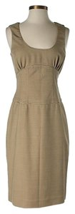 Badgley Mischka Wool Shift Sheath Dress