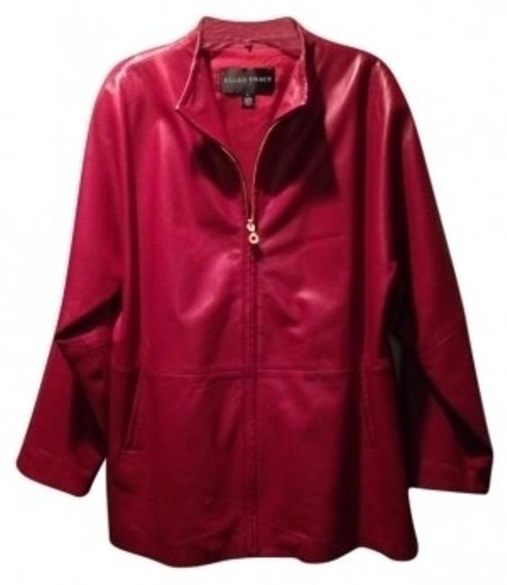 Preload https://item1.tradesy.com/images/ellen-tracy-wine-red-tunic-length-leather-jacket-size-14-l-17850-0-0.jpg?width=400&height=650