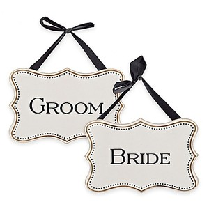 Bride And Groom Wall Plaques