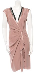Philosophy di Alberta Ferretti Silk Draped Holiday Dress