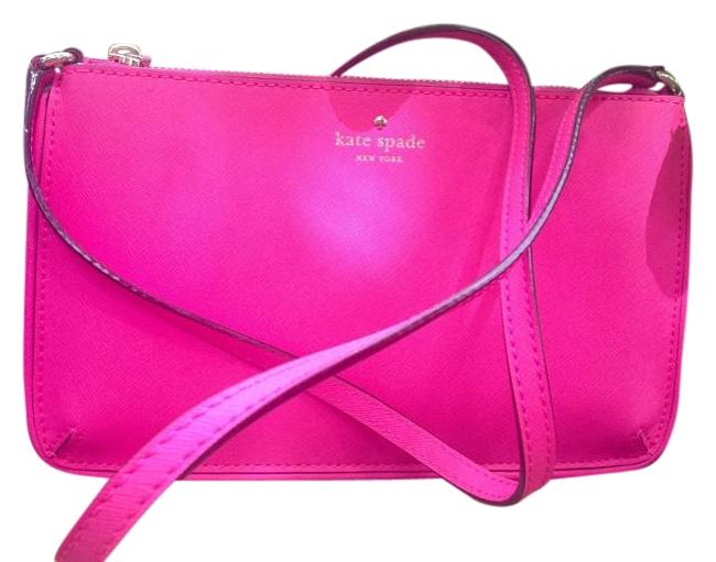 Item - Pink Faux Leather Cross Body Bag