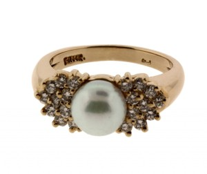 Other 14k Diamond Pearl Pearls Jbdr874