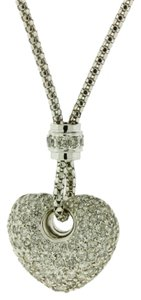 Other 1 CARAT PAVE DIAMOND HEART NECKLACE IN 18 KARAT WHITE GOLD