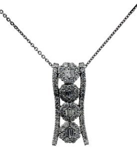 Other Beautiful 1 carat pave diamond pendant in 18k white gold