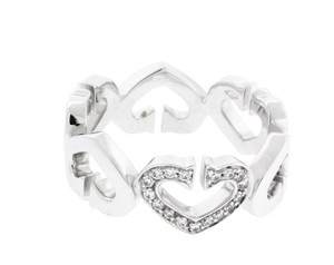 "Cartier Cartier ""C heart"" VS1 F Diamond Ring in 18k white gold Authentic size"