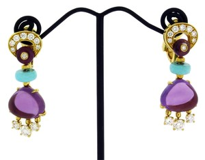 BVLGARI BVLGARI OR855798 Mediterranean Eden Diamond & Turqoise earrings