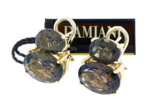 Damiani's Damiani smokey topaz Leaver back earrings in 18 karat rose gold