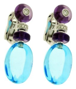 BVLGARI BVLGARI OR855841 Mediterranean Eden diamond & topaz earrings in 18k