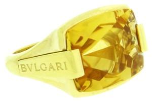 BVLGARI Bvlgari Citrine ring in 18 karat yellow gold size 5.5