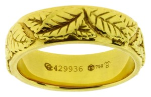 Carrera y Carrera Carrera y Carrera leaves band in 18k yellow gold size 6.5 new in box