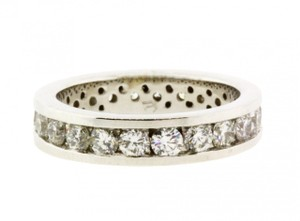 Other Channel set diamond eternity band in 14k white gold new VS-GH size 5.5