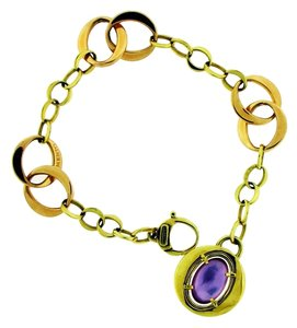 Chimento Chimento amethyst & mother of pearl bracelet in 18k rose gold.